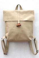 Disenia White Leather Backpack