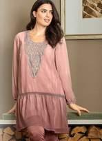 Linea Tesini Heine Chiffon & Crocheted Dress