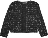 Lela Rose Cropped Bouclé-tweed Jacket - Black