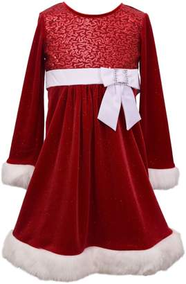 Iris & Ivy Little Girl's Holiday Faux Fur Velvet Dress