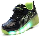 Ufatansy Uforme Kids Boys Girls Single Wheel Shoes Fashion Shinning LED light Up Skate Sneakers for Unisex
