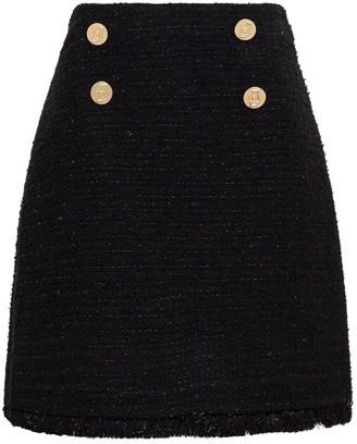 Liu Jo Liu-Jo Black Tweed Skirt