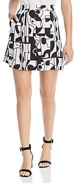 Marella Melinda Geometric Print Shorts