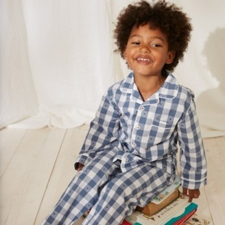 The White Company Star Gingham Pyjamas (1-12yrs), White Blue, 2-3yrs