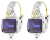 Judith Ripka Estate Cushion Earring On Wire