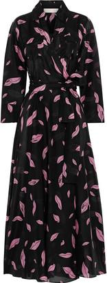 Diane von Furstenberg Clarem Printed Cotton And Silk-blend Voile Midi Wrap Dress