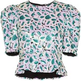 Christina Rotate sequin embellished top