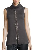 Ramy Brook Leah Embellished Merino Wool Sweater