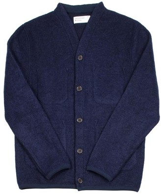 Universal Works Cardigan Wool Fleece Navy - S
