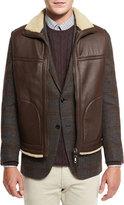 Ermenegildo Zegna Reversible Shearling-Lined Leather Vest, Brown