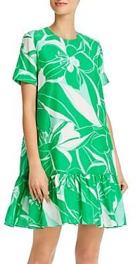 Milly Stencil-Floral Brynn Mini Dress