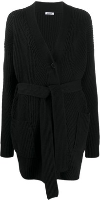 P.A.R.O.S.H. Long-Line Belted Cardigan