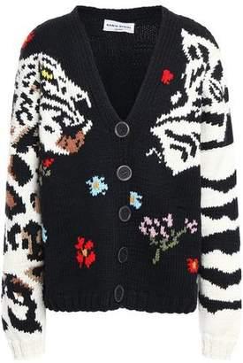 Sonia Rykiel Oversized Intarsia Wool Cardigan