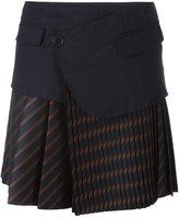 A.F.Vandevorst knife pleat skirt - women - Lyocell/Virgin Wool - 38