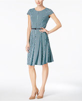 Jessica Howard Geo-Print Belted Dress