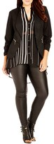City Chic Plus Size Women's Gathered Sleeve Jacket