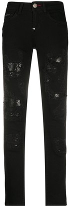Philipp Plein Rock low-rise skinny jeans