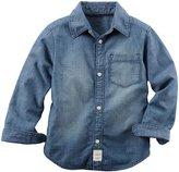 Carter's Denim Button Down Shirt (Toddler/Kid) - Denim - 4