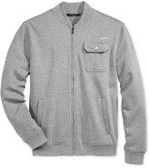 Sean John Men's Zip-Front Fleece Bomber Jacket