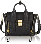 3.1 Phillip Lim The Pashli Mini Textured-leather Trapeze Bag - Black