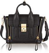 3.1 Phillip Lim The Pashli Mini Textured-leather Trapeze Bag - Black