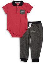 Calvin Klein Baby Boys Cotton-Blend Bodysuit & Pants Set