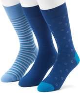 Marc Anthony Men's 3-pack Circle, Solid & Striped Dress Socks