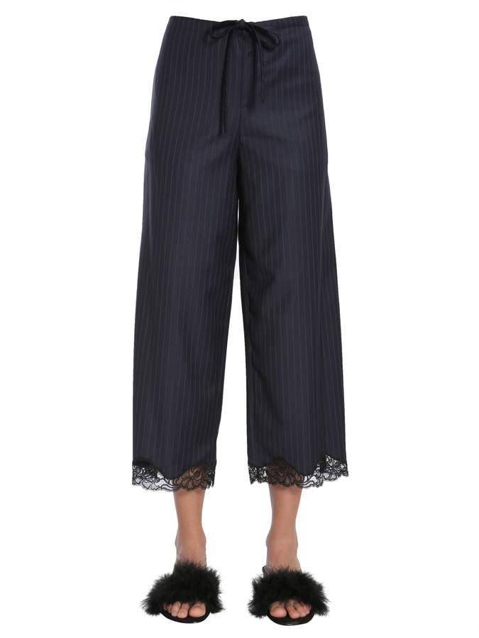 Alexander Wang Pin Striped Culotte Trousers