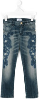Versace embroidered denim jeans