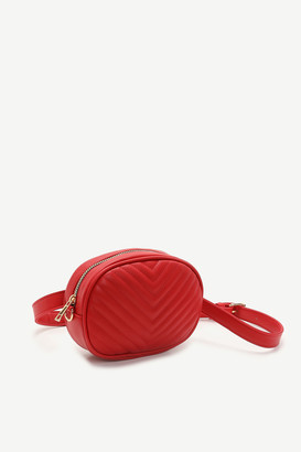 Ardene Chevron Quilted Fanny Pack and Crossbody Bag
