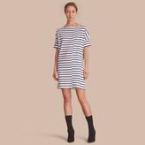 Burberry Short-sleeve Striped Jersey Dress