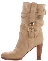 Louis Vuitton Suede Mid-Calf Boots