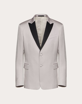 Valentino Uomo On Love Formal Jacket Man Pink Silk 37%, Elastane 2% 44