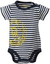 Burt's Bees Baby Striped Side Snap Bodysuit (Baby) - Midnight-0-3 Months