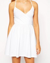Asos Mini Sundress with Strappy Back and Wrap Front