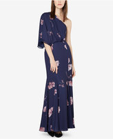 Fame and Partners One-Shoulder Floral-Print Gown