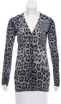 Dolce & Gabbana Leopard Print Virgin Wool Cardigan