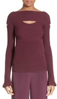 Cushnie et Ochs Women's Cutout Boatneck Sweater