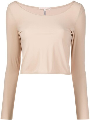 Filippa K Soft Sport Cropped Long-Sleeved Dance Top