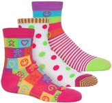 Jefferies Socks Happiness Socks - 3-Pack, Crew (For Toddlers and Little Girls)