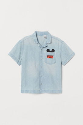 H&M Printed denim shirt