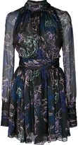 Ungaro floral chiffon dress