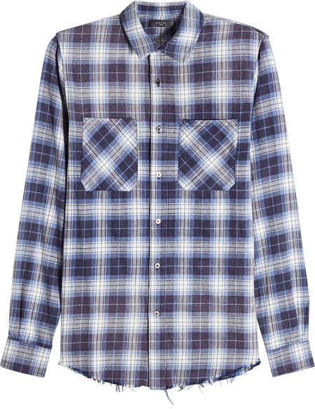 Amiri Distressed Plaid Shirt