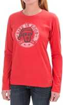 Life is Good Crusher Shirt - Long Sleeve (For Women)