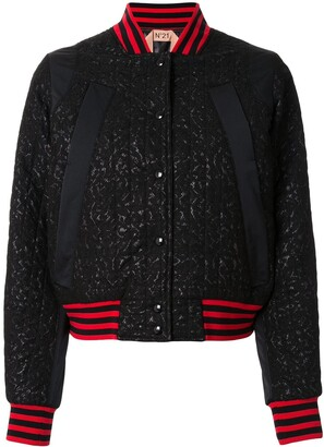 No.21 Lace Front Bomber Jacket