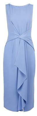 Dorothy Perkins Womens **Luxe Blue Manipulated Crepe Dress, Blue