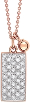 ginette_ny Mini Diamond Ever Rectangle Necklace - Rose Gold