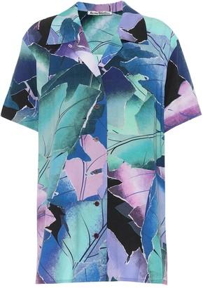 Acne Studios Rellah printed crepe shirt