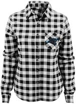 Juniors' Carolina Panthers Buffalo Plaid Flannel Shirt