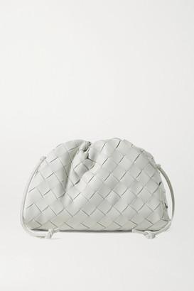 Bottega Veneta The Pouch Small Gathered Intrecciato Leather Clutch - White